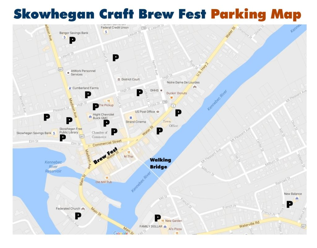 Brew Fest Parking Map